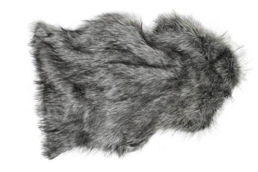 KUNSTFELL   Grau - Grau, Kunststoff (90cm)