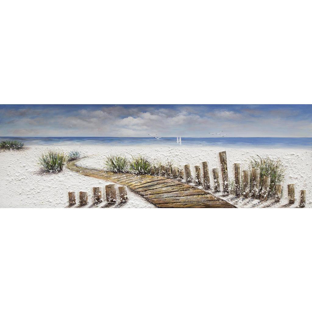 Strandbild auf Leinwand