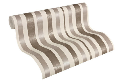 VLIESTAPETE 10,05 m - Beige/Braun, Design, Textil (53/1005cm)