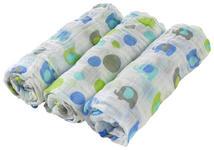 STOFFWINDEL 3-teilig  - Blau/Weiß, Basics, Textil (80/80cm) - My Baby Lou