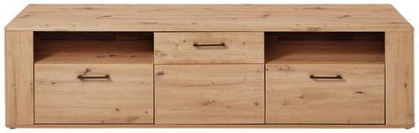 LOWBOARD foliert Eichefarben - Eichefarben/Schwarz, KONVENTIONELL, Holzwerkstoff (205/51/50cm) - Cantus