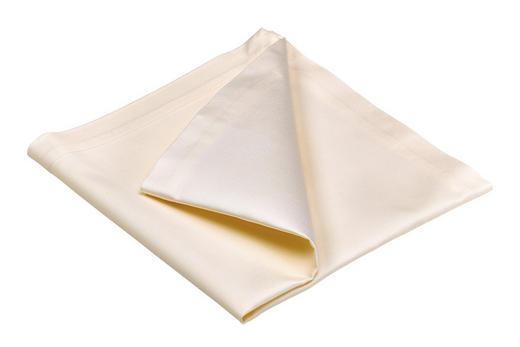 Serviette 2er Pack  Textil  Creme  50/50 cm - Creme, Basics, Textil (50/50cm)