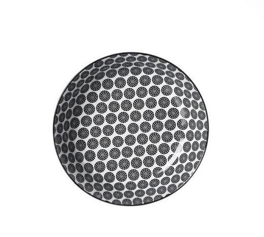 SUPPENTELLER 20,5 cm - Schwarz/Weiß, Trend, Keramik (20,5cm) - Ritzenhoff Breker