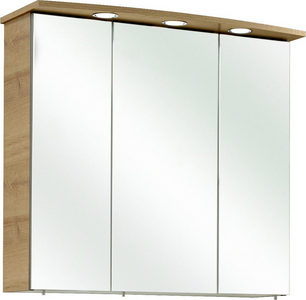 ORMARIĆ SA OGLEDALOM - Boje hroma/Boja hrasta, Konvencionalno, Pločasti materijal (75/70/20cm) - Xora