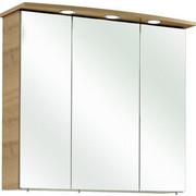 OMARA Z OGLEDALOM 75/70/20 cm  - hrast/krom, Konvencionalno, leseni material (75/70/20cm) - Xora