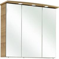 SPIEGELSCHRANK 75/70/20 cm - Chromfarben/Eichefarben, KONVENTIONELL, Holzwerkstoff (75/70/20cm) - Xora