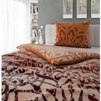BETTWÄSCHE 140/200 cm - Lila/Orange, LIFESTYLE, Textil (140/200cm) - Esposa