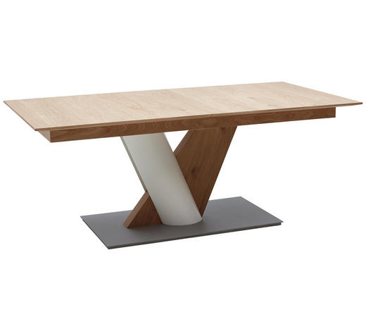 ESSTISCH in Holzwerkstoff 190/95/77 cm - Edelstahlfarben/Eichefarben, Design, Holzwerkstoff (190/95/77cm) - Ambiente by Hülsta