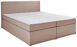 BOXBETT 140/200 cm  in Sandfarben  - Sandfarben, Design, Holzwerkstoff/Textil (140/200cm) - Carryhome