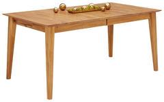 ESSTISCH Wildeiche vollmassiv Eichefarben - Eichefarben, Design, Holz (160(240)/90/75cm) - Linea Natura