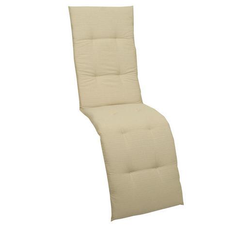 RELAXSESSELAUFLAGE Uni  - Creme, KONVENTIONELL, Textil (48/170/5cm)