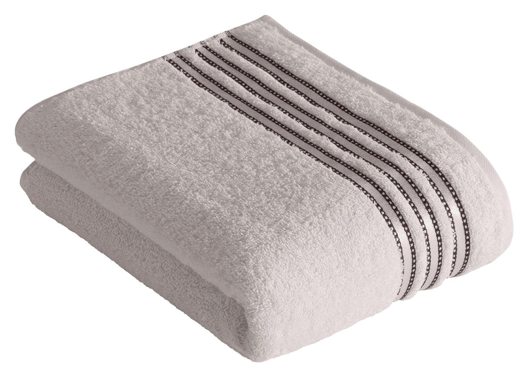 DUSCHTUCH 67/140 cm - Hellgrau, Basics, Textil (67/140cm) - VOSSEN