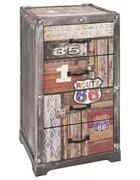 KOMODA, večbarvno  - večbarvno, Design, kovina/leseni material (39/77/36cm) - Landscape
