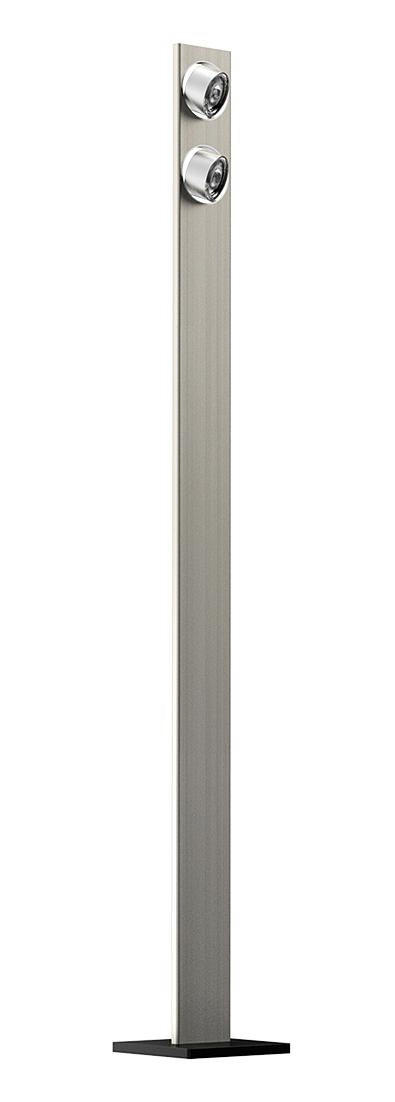 STEHLEUCHTE - Nickelfarben, LIFESTYLE, Metall (18/140/1,35cm)