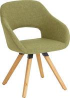 STUHL Wildeiche massiv Eichefarben, Grün - Eichefarben/Grün, Design, Holz/Textil (62/80/60cm) - VALNATURA