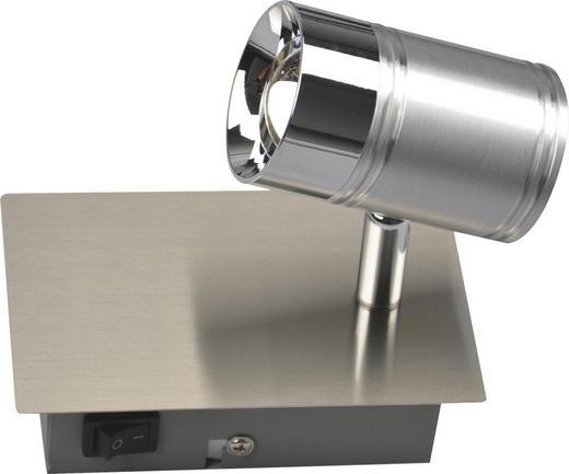 LED-STRAHLER - MODERN, Glas/Metall (8,5/14/14cm)