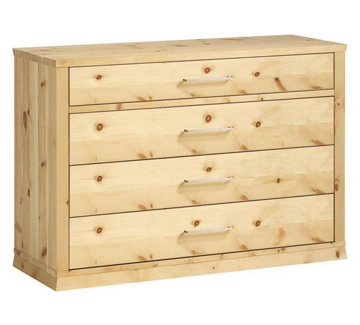KOMMODE 127,8/87,2/46,8 cm - Zirbelkieferfarben, Design, Holz/Metall (127,8/87,2/46,8cm) - Anrei