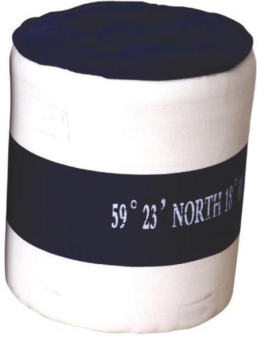 HOCKER Blau, Weiß - Blau/Weiß, KONVENTIONELL, Textil (32/38/32cm)