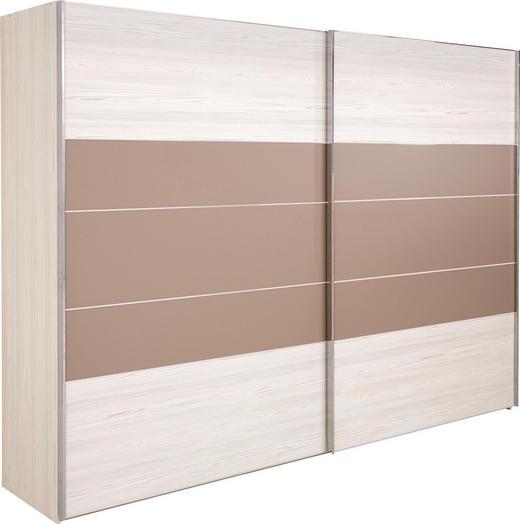 SKŘÍŇ S POSUVNÝMI DVEŘMI, barvy modřínu, Sahara - barvy chromu/barvy modřínu, Konvenční, kompozitní dřevo (300/217/68cm) - Voleo