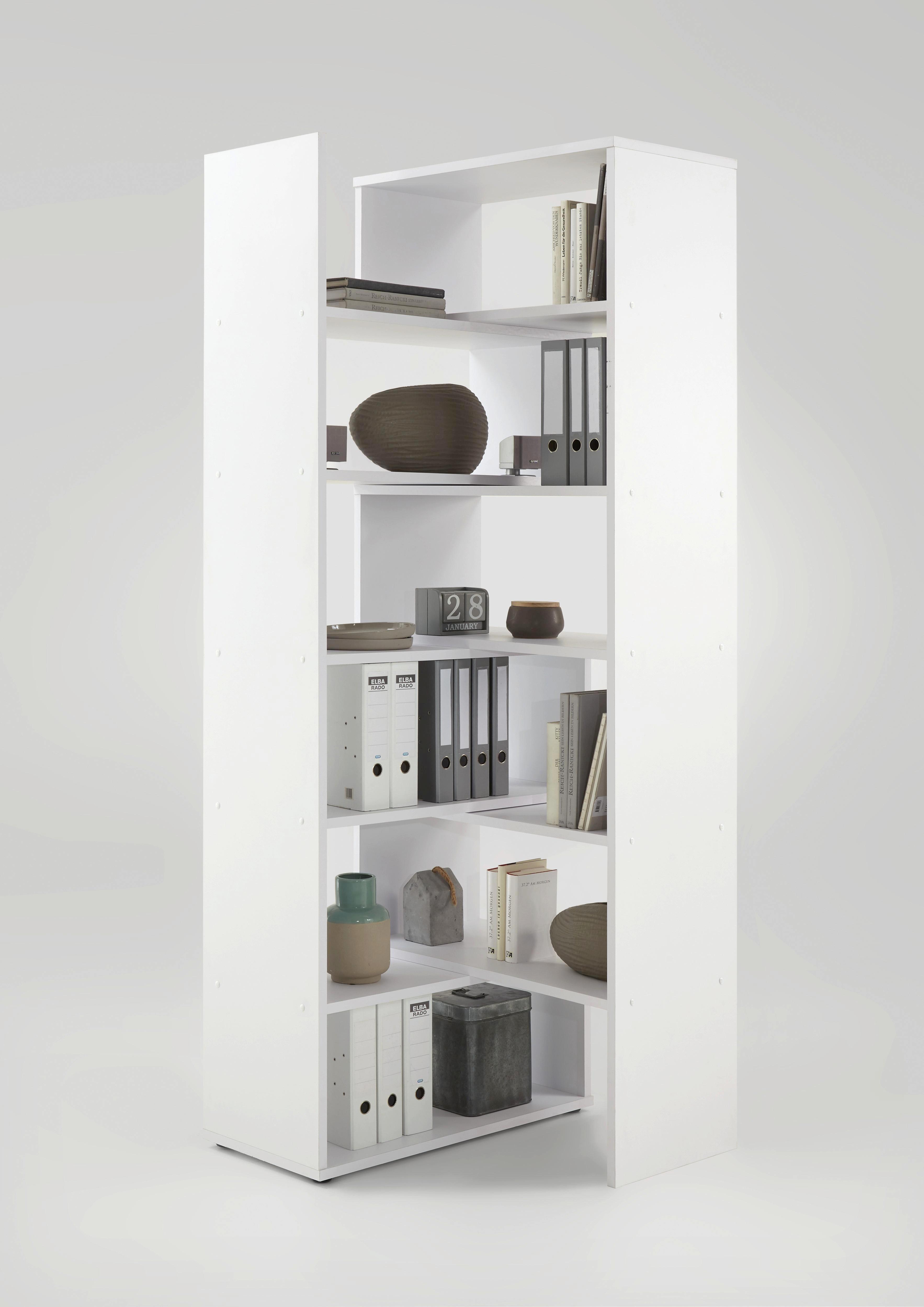AKTENREGAL Weiß - Weiß, MODERN, Holzwerkstoff (84-160/221,5/40,0cm) - CARRYHOME