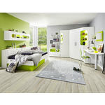 ECKKLEIDERSCHRANK Weiß, Hellgrün  - Weiß/Hellgrün, Design (150/210/128cm) - Venda
