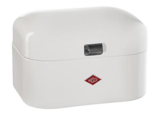 BROTKASTEN - Weiß, Basics, Metall (28/22/17cm) - Wesco