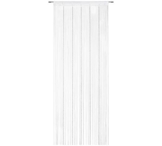 ŠPAGETI ZAVJESA - bijela/boje srebra, Basics, tekstil (90/245cm) - Boxxx