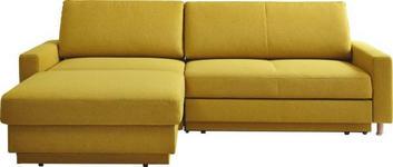 WOHNLANDSCHAFT in Textil Gelb  - Gelb/Naturfarben, KONVENTIONELL, Holz/Textil (158/250cm) - Venda