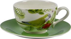 KAFFEKOPP MED FAT - grön/multicolor, Trend, keramik - Landscape