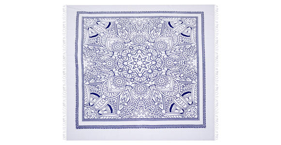 STRANDTUCH 210/220 cm Blau, Weiß  - Blau/Weiß, KONVENTIONELL, Textil (210/220cm) - Esposa