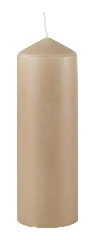 STUMPENKERZE 6,7/20 cm - Beige, Basics (6,7/20cm) - Steinhart