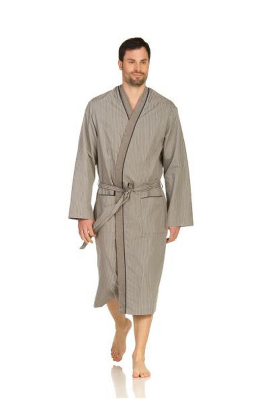 BADEMANTEL  Grau - Grau, Basics, Textil (48/50) - Vossen