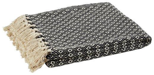 PLAID 125/150 cm Schwarz - Schwarz, Design, Kunststoff (125/150cm)
