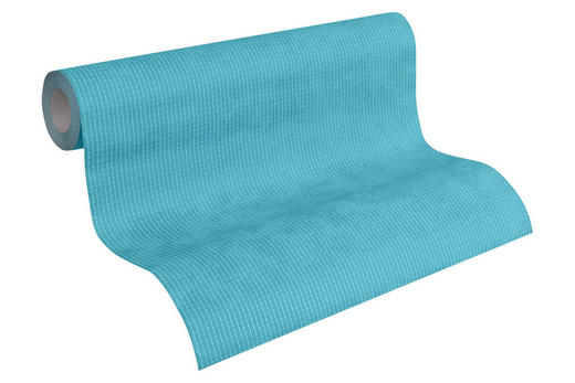 VLIESTAPETE 10,05 m - Türkis/Blau, Design, Textil (53/1005cm) - Esprit