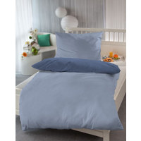 WENDEBETTWÄSCHE - Blau/Hellblau, KONVENTIONELL, Textil (140/200cm)