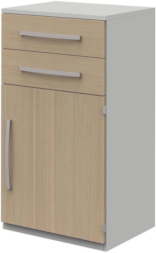 AKTENSCHRANK - Eichefarben/Hellgrau, Design, Holzwerkstoff (60/111,7/43cm)