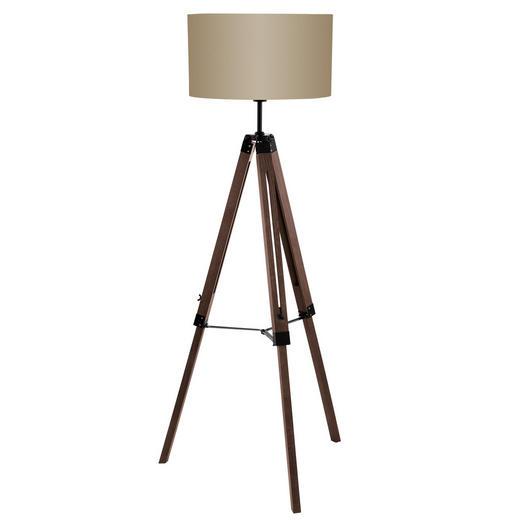 STEHLEUCHTE - Taupe/Nussbaumfarben, LIFESTYLE, Holz/Textil (70/150cm)