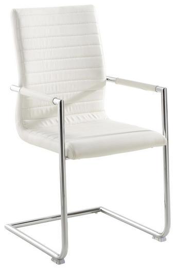 SCHWINGSTUHL Lederlook Chromfarben, Weiß - Chromfarben/Weiß, Design, Kunststoff/Textil (51/98/61cm) - Xora