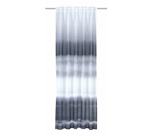FERTIGVORHANG  transparent  135/245 cm   - Grau, Textil (135/245cm)