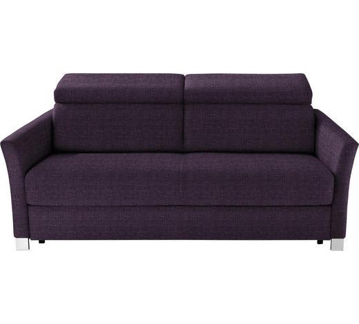 SCHLAFSOFA Flachgewebe Violett  - Violett/Silberfarben, KONVENTIONELL, Holz/Textil (185/100/100cm) - Bali