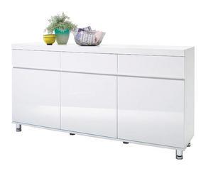 SIDEBOARD - vit/kromfärg, Design, metall/träbaserade material (165/83/40cm) - Xora