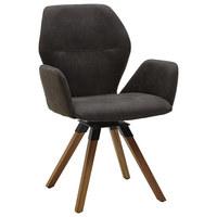 ARMLEHNSTUHL in Anthrazit, Eichefarben - Eichefarben/Anthrazit, Design, Holz/Textil (62/91/59cm) - Valnatura