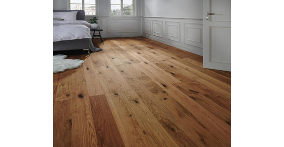 Landhausdiele Eiche rustikal  per  m² - Eichefarben, KONVENTIONELL, Holz (220/18,5/1,3cm) - Ambiente
