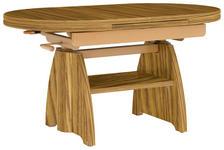 COUCHTISCH in Holzwerkstoff, Metall 110(130,5/65/56-75 cm - Eichefarben, KONVENTIONELL, Holzwerkstoff/Metall (110(130,5/65/56-75cm) - Venda