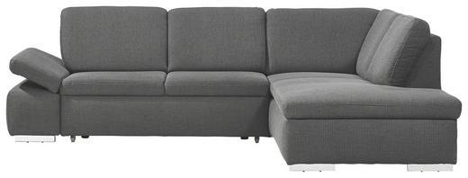 WOHNLANDSCHAFT Webstoff - Chromfarben/Anthrazit, Design, Kunststoff/Textil (259/80/208cm) - Carryhome