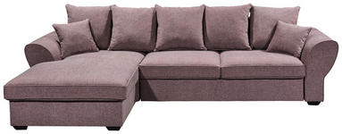 WOHNLANDSCHAFT in Textil Brombeere  - Brombeere, MODERN, Kunststoff/Textil (185/310cm) - Carryhome