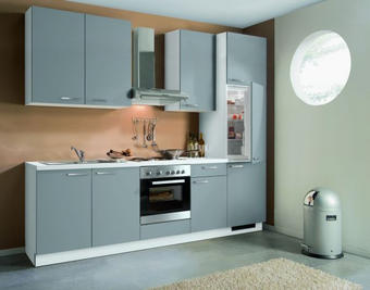 KUHINJSKI BLOK - bijela/siva, Design, drvni materijal (270cm) - WELNOVA