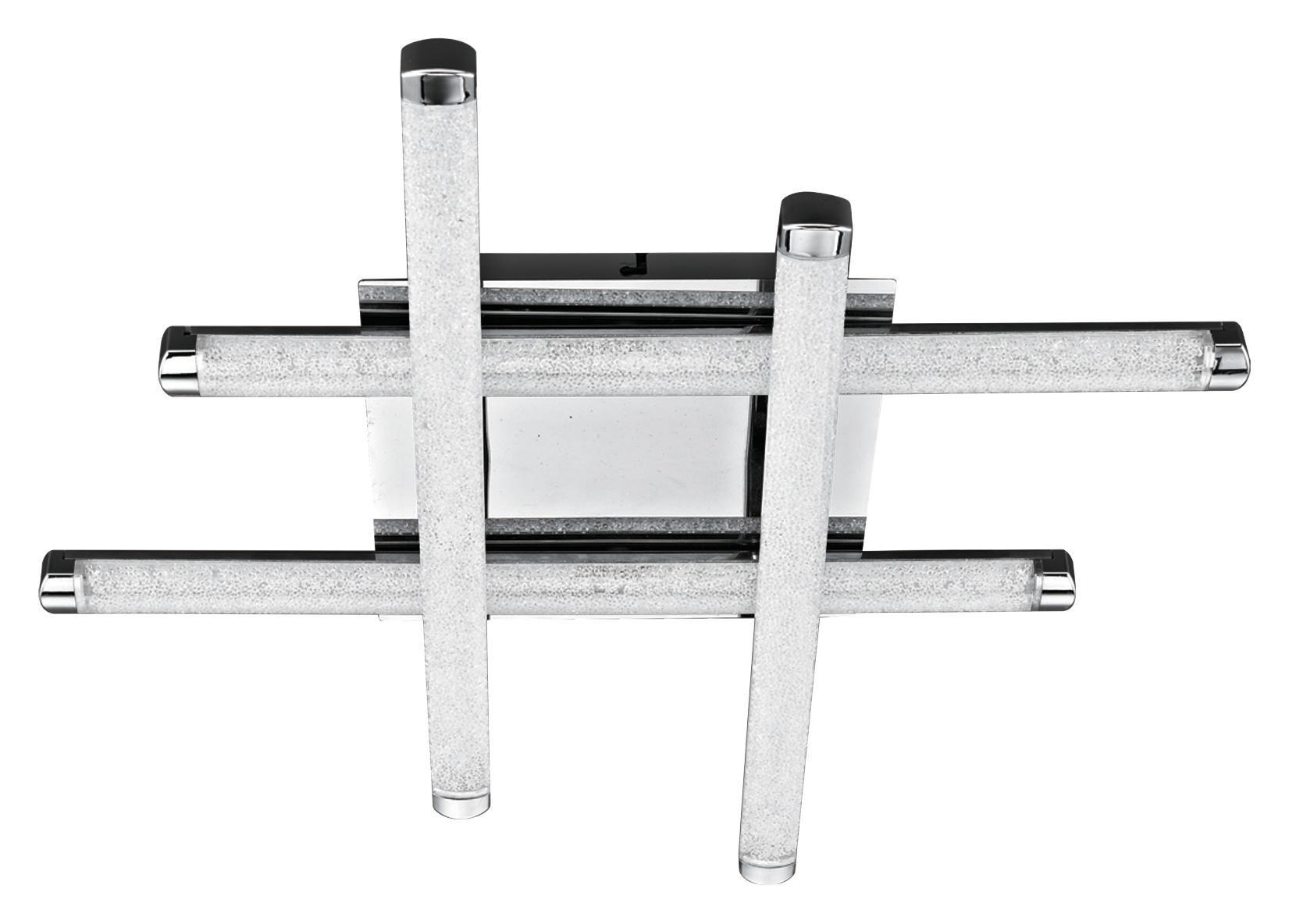 LED SVJETILJKA STROPNA - prozirno, Konvencionalno, metal/plastika (49/49/8,5cm) - Novel