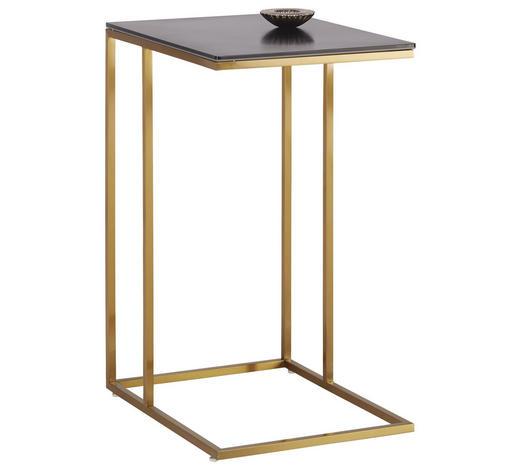 BEISTELLTISCH in Metall, Glas, Keramik  - Goldfarben/Schwarz, Trend, Glas/Keramik (38/68/47cm)