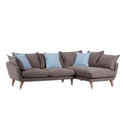 SEDEŽNA GARNITURA  svetlo rjava tekstil - svetlo rjava/naravna, Trend, tekstil/les (267/66/44/170cm) - Ambia Home